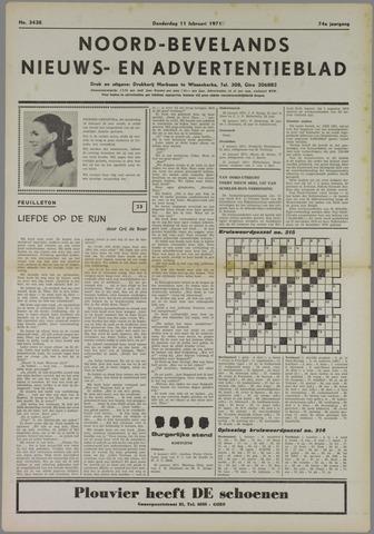 Noord-Bevelands Nieuws- en advertentieblad 1971-02-11
