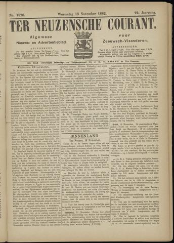 Ter Neuzensche Courant. Algemeen Nieuws- en Advertentieblad voor Zeeuwsch-Vlaanderen / Neuzensche Courant ... (idem) / (Algemeen) nieuws en advertentieblad voor Zeeuwsch-Vlaanderen 1882-11-15
