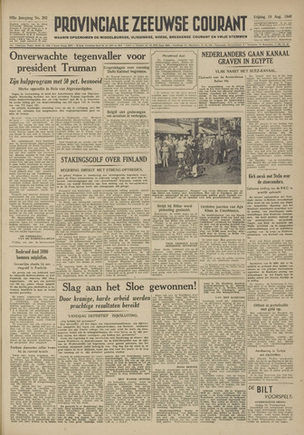 Provinciale Zeeuwse Courant 1949-08-19