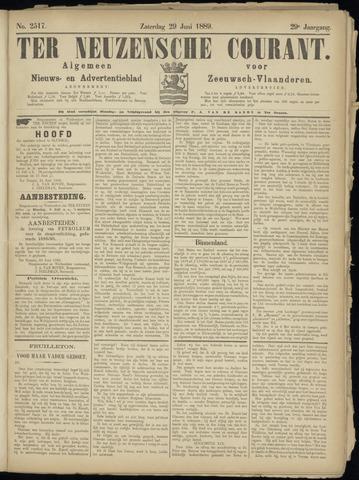 Ter Neuzensche Courant. Algemeen Nieuws- en Advertentieblad voor Zeeuwsch-Vlaanderen / Neuzensche Courant ... (idem) / (Algemeen) nieuws en advertentieblad voor Zeeuwsch-Vlaanderen 1889-06-29