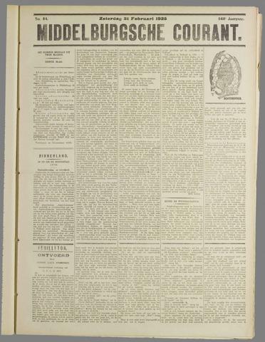 Middelburgsche Courant 1925-02-21