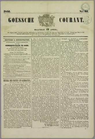 Goessche Courant 1852-04-19