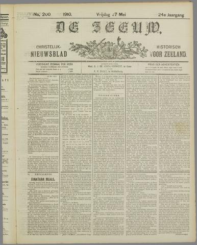 De Zeeuw. Christelijk-historisch nieuwsblad voor Zeeland 1910-05-27