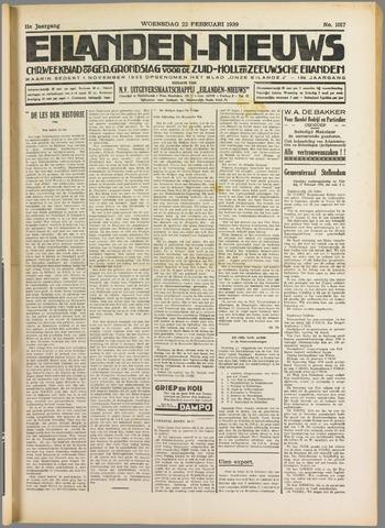 Eilanden-nieuws. Christelijk streekblad op gereformeerde grondslag 1939-02-22