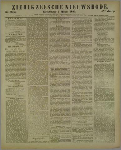 Zierikzeesche Nieuwsbode 1889-03-07