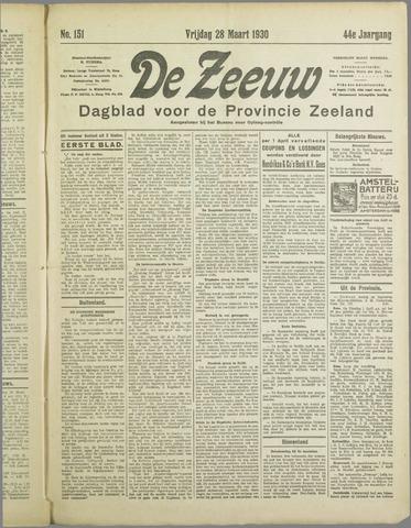 De Zeeuw. Christelijk-historisch nieuwsblad voor Zeeland 1930-03-28