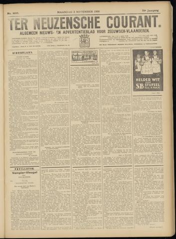 Ter Neuzensche Courant. Algemeen Nieuws- en Advertentieblad voor Zeeuwsch-Vlaanderen / Neuzensche Courant ... (idem) / (Algemeen) nieuws en advertentieblad voor Zeeuwsch-Vlaanderen 1930-11-03