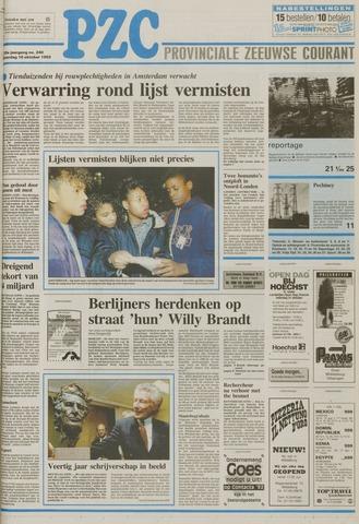 Provinciale Zeeuwse Courant 1992-10-10