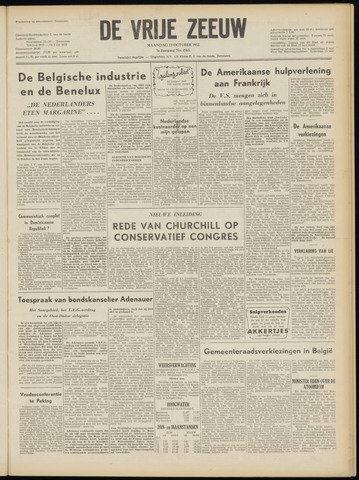 de Vrije Zeeuw 1952-10-13