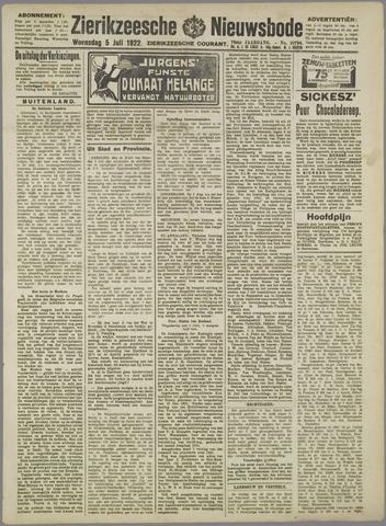 Zierikzeesche Nieuwsbode 1922-07-05
