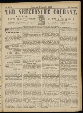 Ter Neuzensche Courant. Algemeen Nieuws- en Advertentieblad voor Zeeuwsch-Vlaanderen / Neuzensche Courant ... (idem) / (Algemeen) nieuws en advertentieblad voor Zeeuwsch-Vlaanderen 1902-09-04