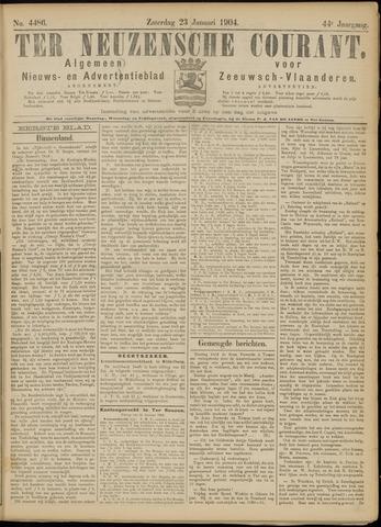 Ter Neuzensche Courant. Algemeen Nieuws- en Advertentieblad voor Zeeuwsch-Vlaanderen / Neuzensche Courant ... (idem) / (Algemeen) nieuws en advertentieblad voor Zeeuwsch-Vlaanderen 1904-01-23