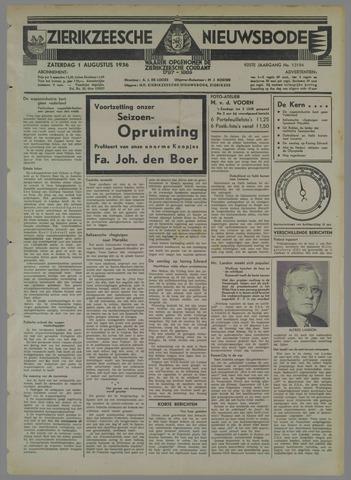 Zierikzeesche Nieuwsbode 1936-08-01