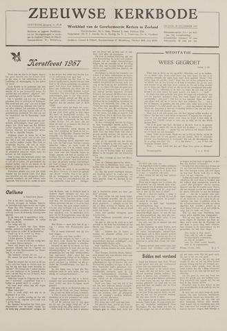 Zeeuwsche kerkbode, weekblad gewijd aan de belangen der gereformeerde kerken/ Zeeuwsch kerkblad 1957-12-20