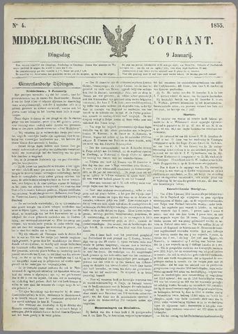 Middelburgsche Courant 1855-01-09