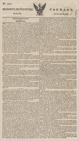 Middelburgsche Courant 1832-11-22