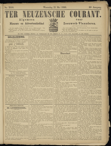 Ter Neuzensche Courant. Algemeen Nieuws- en Advertentieblad voor Zeeuwsch-Vlaanderen / Neuzensche Courant ... (idem) / (Algemeen) nieuws en advertentieblad voor Zeeuwsch-Vlaanderen 1890-05-21