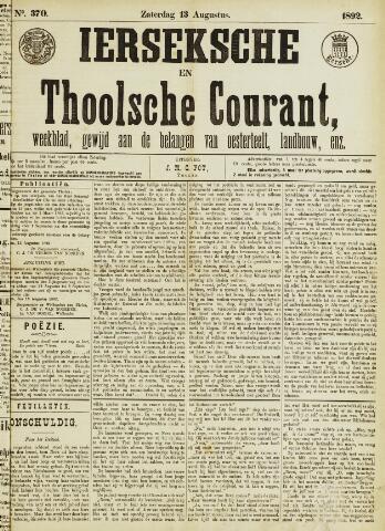 Ierseksche en Thoolsche Courant 1892-08-13