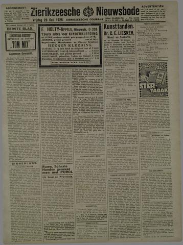 Zierikzeesche Nieuwsbode 1925-10-23