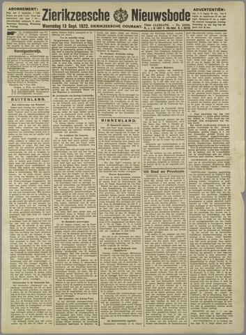 Zierikzeesche Nieuwsbode 1922-09-13