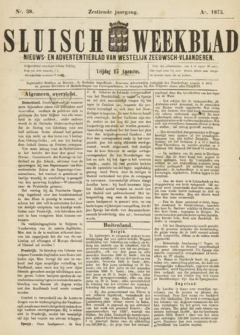Sluisch Weekblad. Nieuws- en advertentieblad voor Westelijk Zeeuwsch-Vlaanderen 1875-08-13