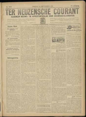 Ter Neuzensche Courant. Algemeen Nieuws- en Advertentieblad voor Zeeuwsch-Vlaanderen / Neuzensche Courant ... (idem) / (Algemeen) nieuws en advertentieblad voor Zeeuwsch-Vlaanderen 1931-09-18