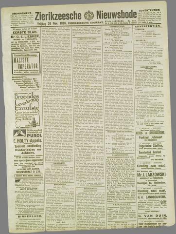 Zierikzeesche Nieuwsbode 1926-11-26