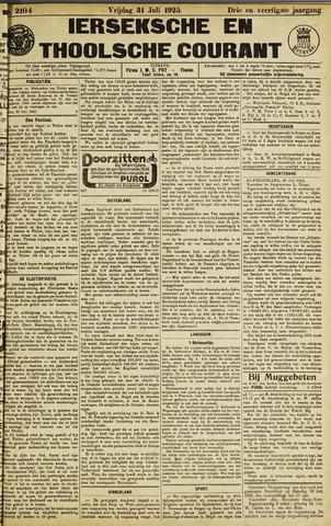 Ierseksche en Thoolsche Courant 1925-07-31