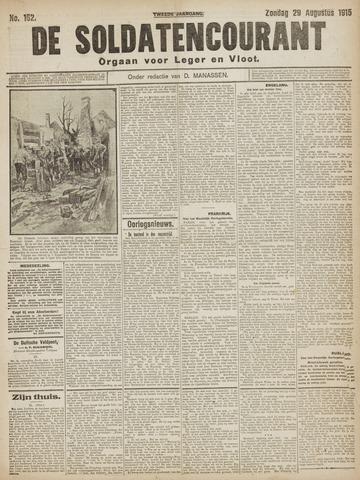 De Soldatencourant. Orgaan voor Leger en Vloot 1915-08-29