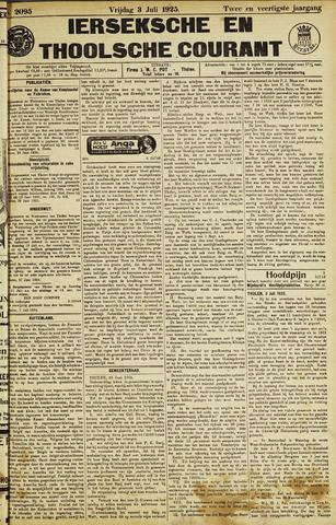 Ierseksche en Thoolsche Courant 1925-07-03