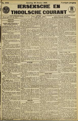 Ierseksche en Thoolsche Courant 1923-10-20