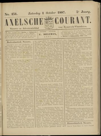 Axelsche Courant 1887-10-01