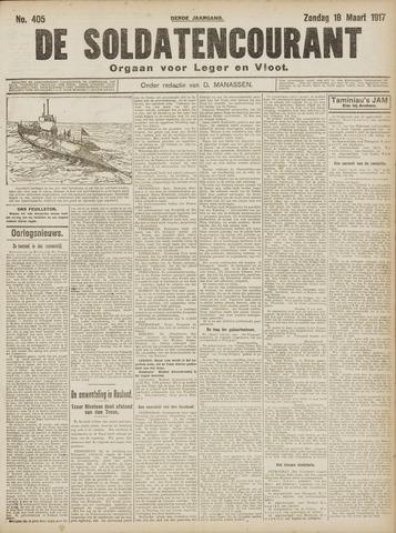 De Soldatencourant. Orgaan voor Leger en Vloot 1917-03-18