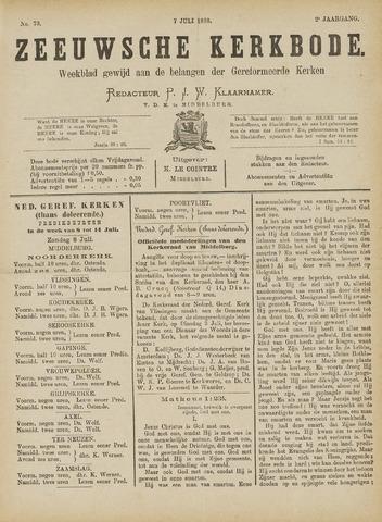 Zeeuwsche kerkbode, weekblad gewijd aan de belangen der gereformeerde kerken/ Zeeuwsch kerkblad 1888-07-07