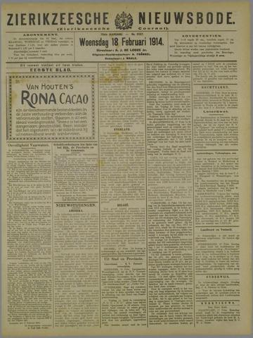 Zierikzeesche Nieuwsbode 1914-02-18