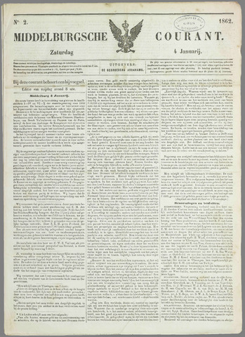 Middelburgsche Courant 1862-01-04
