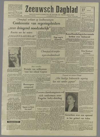 Zeeuwsch Dagblad 1958-01-27
