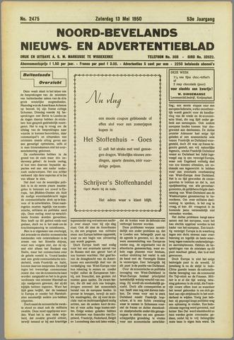 Noord-Bevelands Nieuws- en advertentieblad 1950-05-13