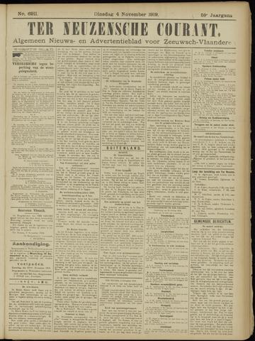 Ter Neuzensche Courant. Algemeen Nieuws- en Advertentieblad voor Zeeuwsch-Vlaanderen / Neuzensche Courant ... (idem) / (Algemeen) nieuws en advertentieblad voor Zeeuwsch-Vlaanderen 1919-11-04