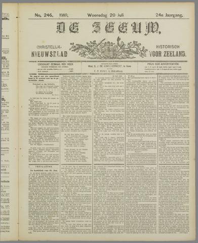 De Zeeuw. Christelijk-historisch nieuwsblad voor Zeeland 1910-07-20
