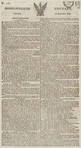 Middelburgsche Courant 1829-09-26