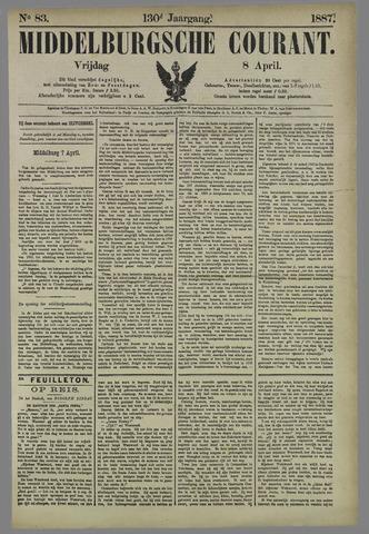 Middelburgsche Courant 1887-04-08
