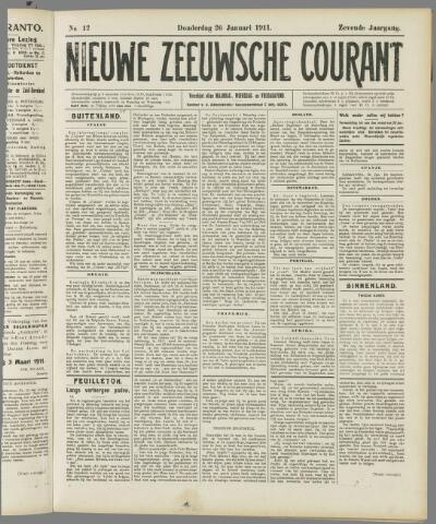 Nieuwe Zeeuwsche Courant 1911-01-26