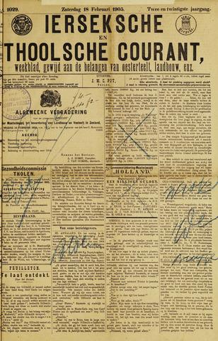 Ierseksche en Thoolsche Courant 1905-02-18