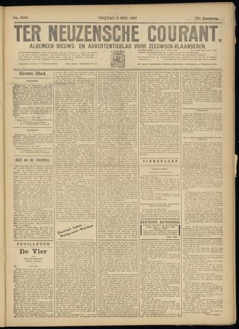 Ter Neuzensche Courant. Algemeen Nieuws- en Advertentieblad voor Zeeuwsch-Vlaanderen / Neuzensche Courant ... (idem) / (Algemeen) nieuws en advertentieblad voor Zeeuwsch-Vlaanderen 1933-05-05