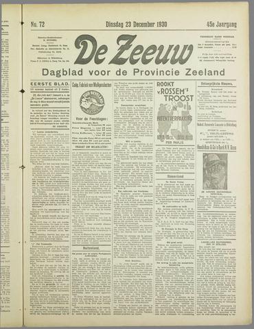 De Zeeuw. Christelijk-historisch nieuwsblad voor Zeeland 1930-12-23