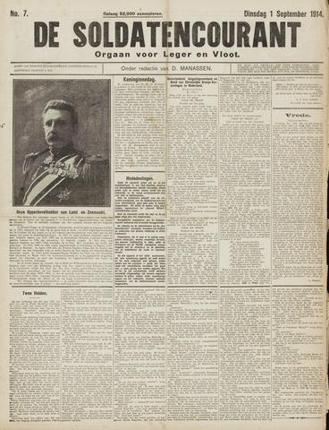 De Soldatencourant. Orgaan voor Leger en Vloot 1914-09-01