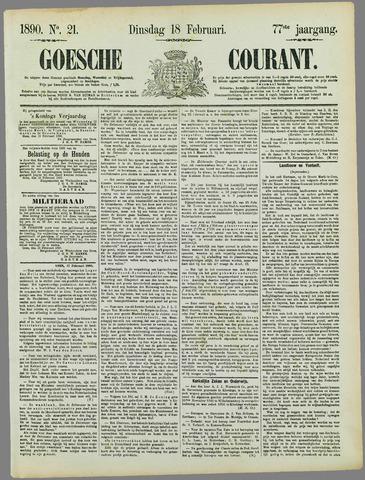 Goessche Courant 1890-02-18
