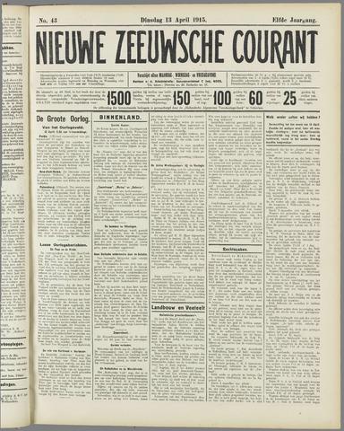 Nieuwe Zeeuwsche Courant 1915-04-13