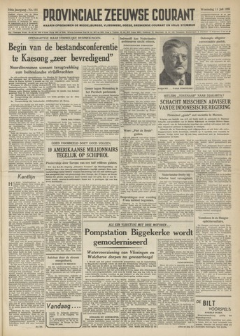 Provinciale Zeeuwse Courant 1951-07-11